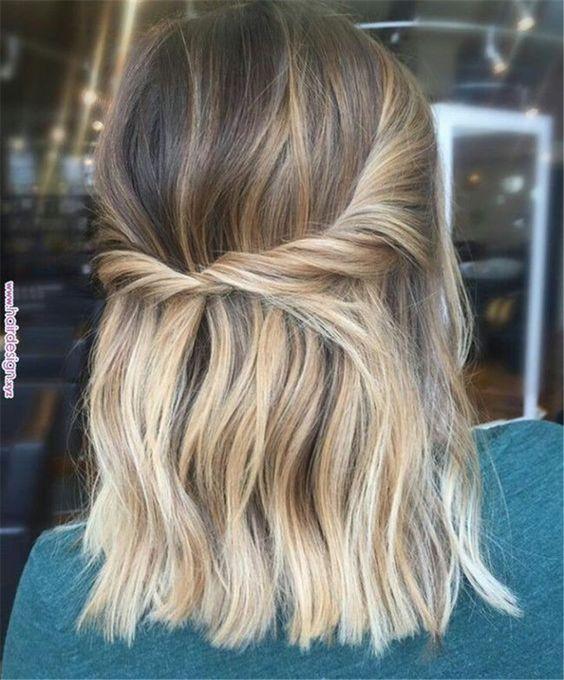 Łatwe upięcie jasnych włosów
