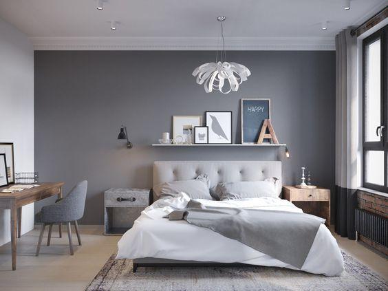 Inspiracje na szarą sypialnię