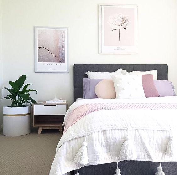 Pomysł na pudrową sypialnię