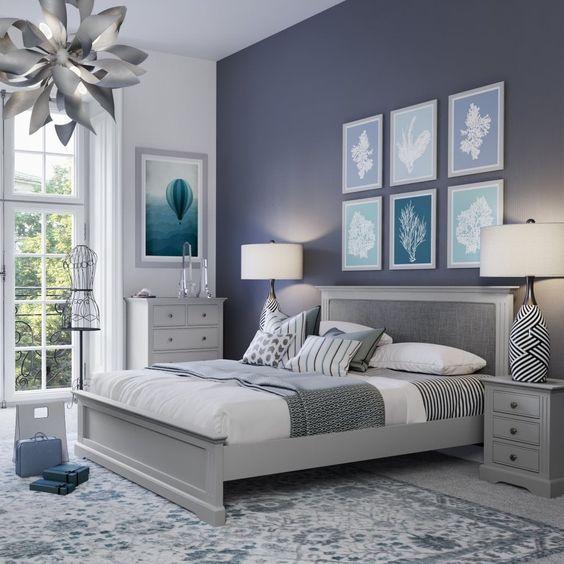 Pomysł na szarą sypialnię